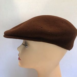 Vintage Kangol Mens Brown Wool Hat Size Medium